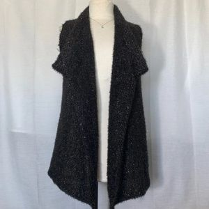 Vera Wang Knit Sweater Cardigan Vest